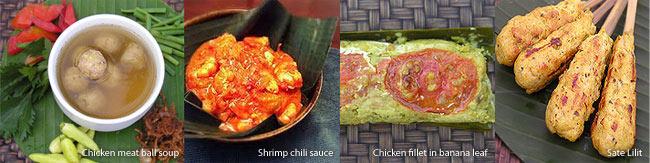 Popular Balinese cuisines