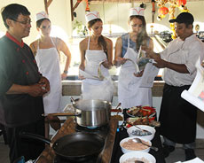 Cooking class session