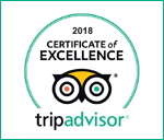 TripAdvisor Certificate of Excellence 2018 Winner
