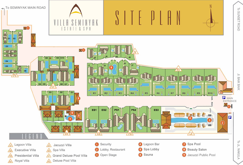 Villa Seminyak Estate Site Plan